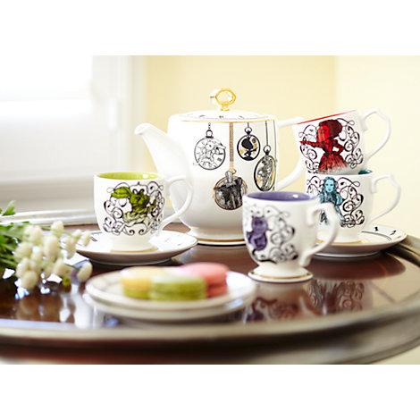 Service à thé en porcelaine Alice de l'Autre Côté du Miroir, en édition limitée