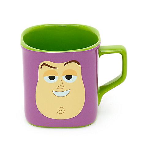 Taza cuadrada con la cara de Buzz Lightyear