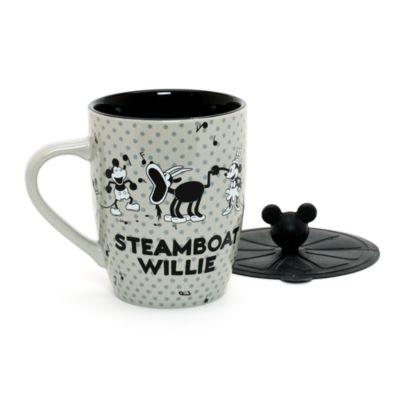 mug steamboat willie avec couvercle. Black Bedroom Furniture Sets. Home Design Ideas