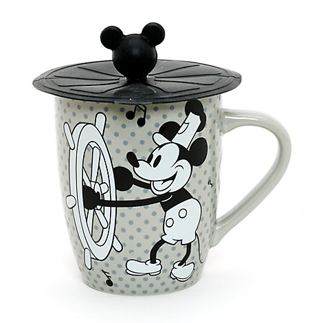 Mug Steamboat Willie avec couvercle