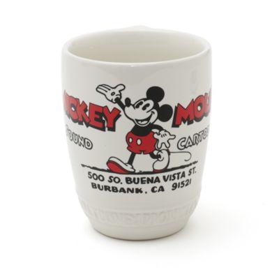 Taza de cerámica y posavasos de Mickey Mouse, colección Walt Disney Studios