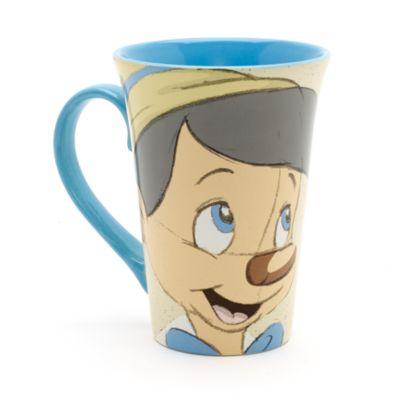 Pinocchio och Benjamin Syrsa lattemugg