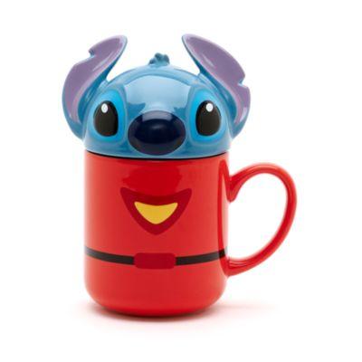 Tazza con coperchio a forma di Stitch con tuta spaziale