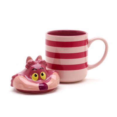 Cheshire Cat Figural Mug with Lid