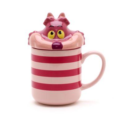 Cheshirekatten figurmugg med lock