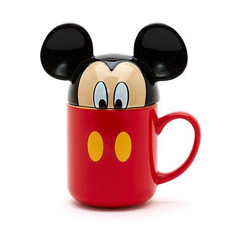 Taza con tapa Mickey Mouse
