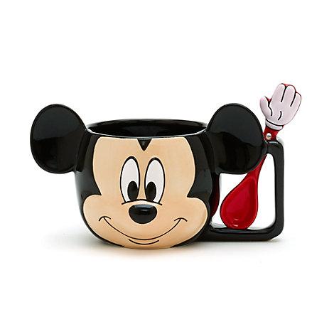 Taza y cuchara Mickey Mouse