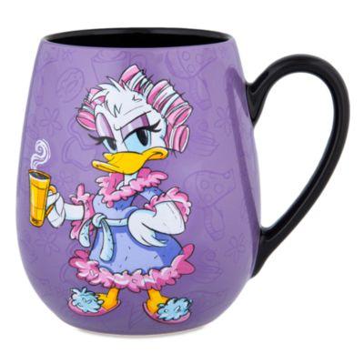 Becher mit schläfriger Daisy Duck und Spruch