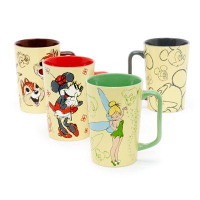 Taza bocetos Mickey Mouse