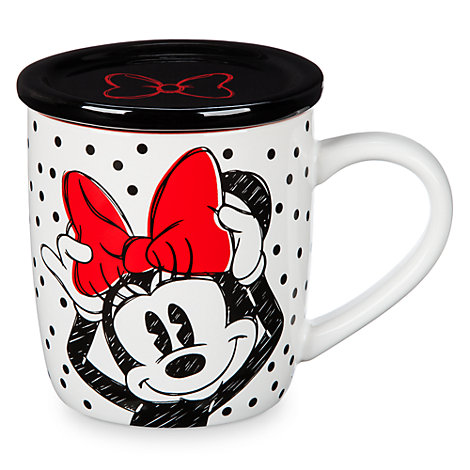 Mug avec couvercle Minnie Rocks the Dots