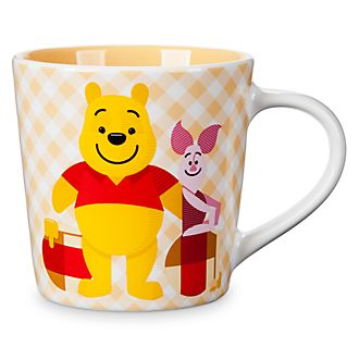Disney Store Winnie the Pooh and Piglet Gingham Mug