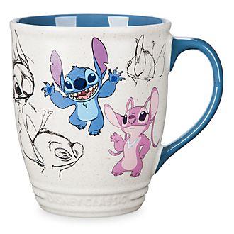 Disney Store Mug avec dessin Stitch et Angel