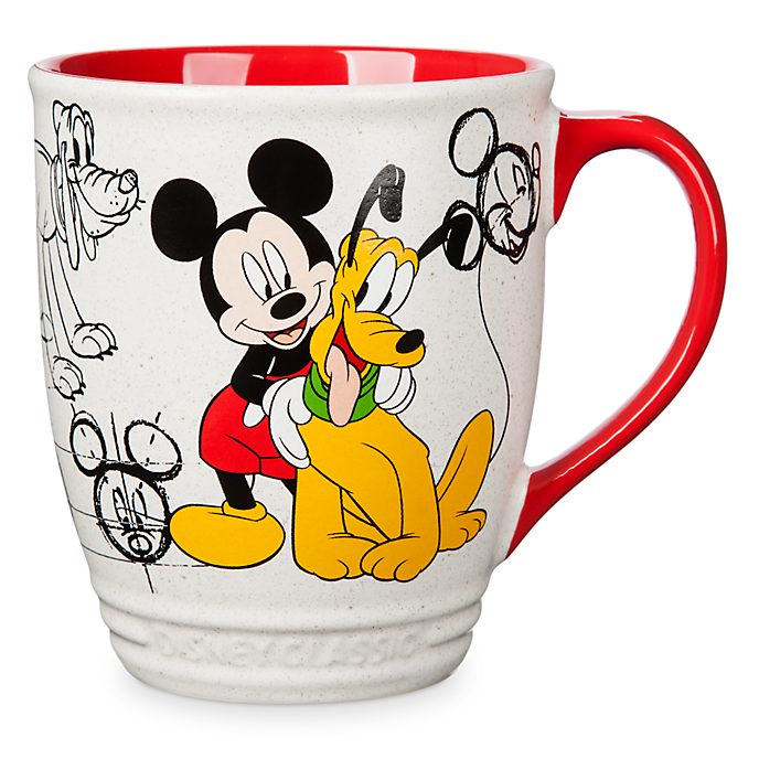 Disney Store Mickey and Pluto Animated Mug