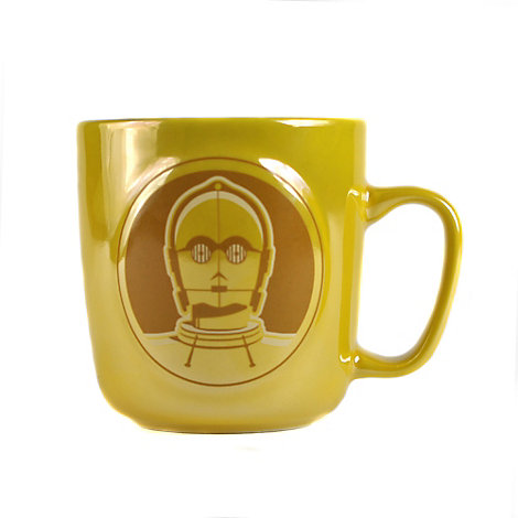 Mug métallique en relief C-3PO, Star Wars