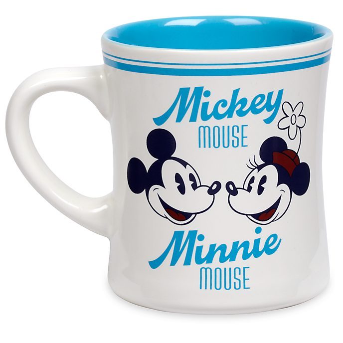 Disney Store Mickey and Minnie Mouse Blue Fall Fun Mug