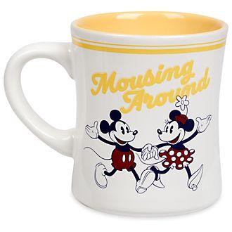 Disney Store Mickey and Minnie Mouse Yellow Fall Fun Mug