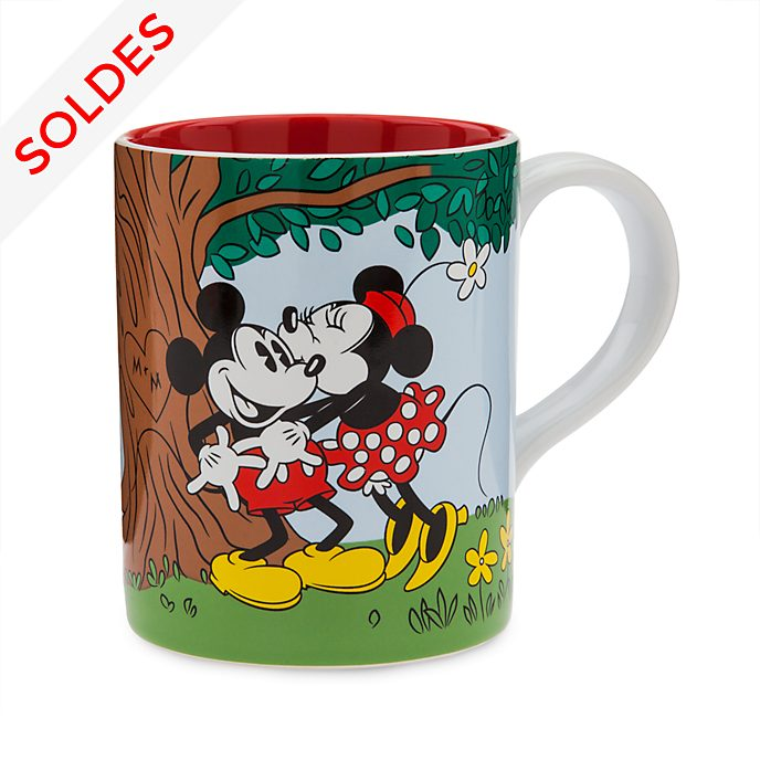 Disney Store Mug Mickey et Minnie Mouse style vintage