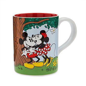 Taza vintage Mickey y Minnie, Disney Store