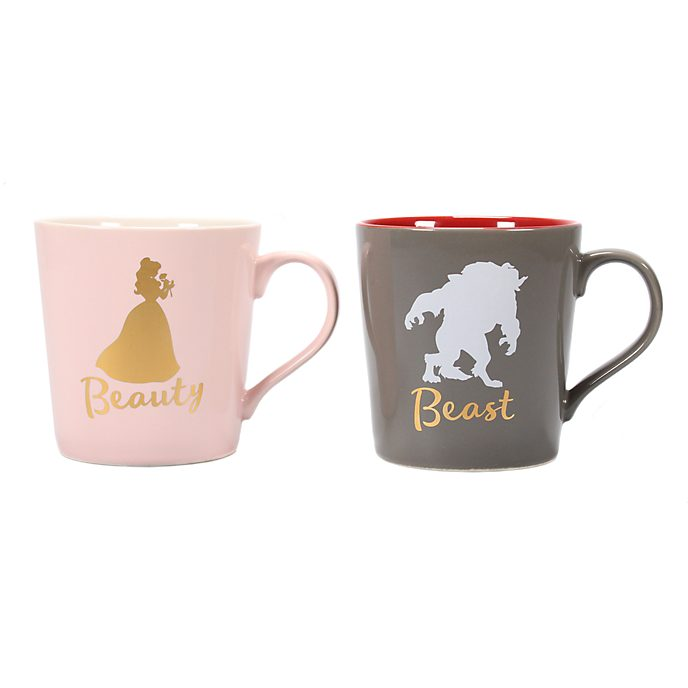 Beauty and the Beast Mugs, Set of 2