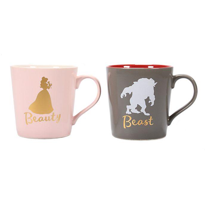 Set 2 tazas La Bella y la Bestia