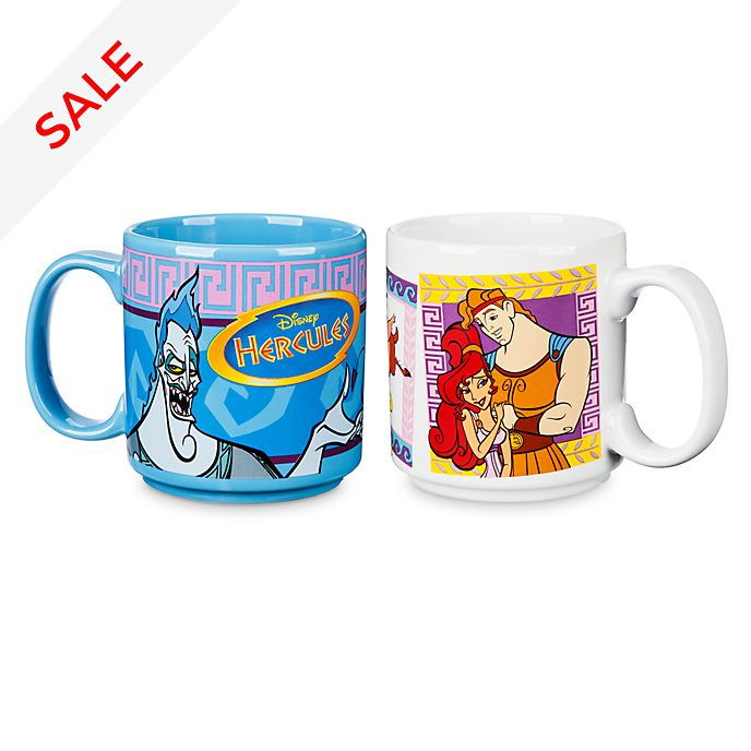 Disney Store Oh My Disney Hercules Mugs, Set of 2