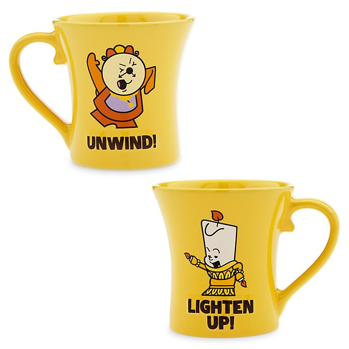 Disney Store Cogsworth and Lumiere Dynamic Duos Mug Set