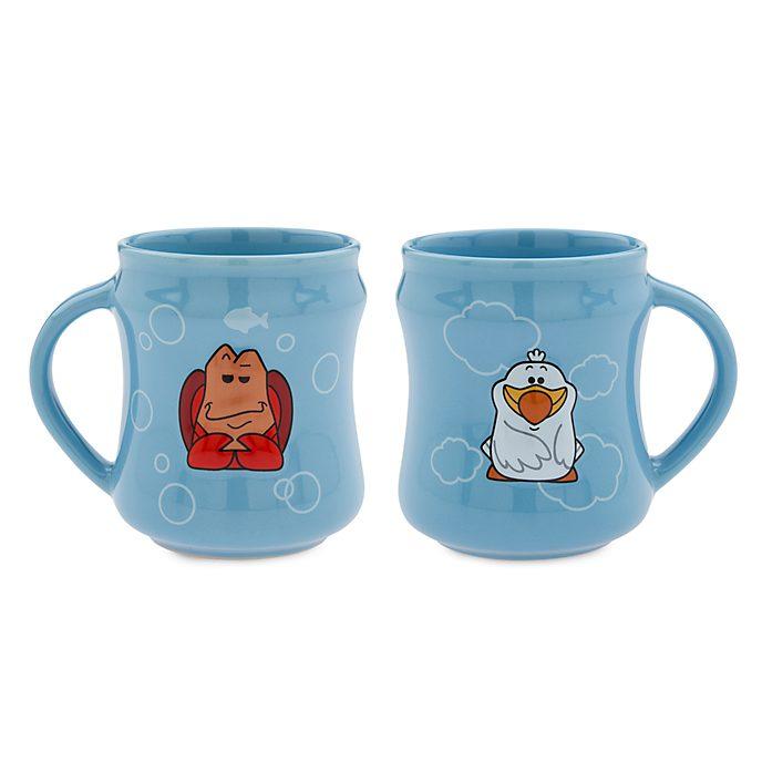 Disney Store Sebastian and Scuttle Dynamic Duos Mug Set