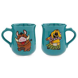 Disney Store Timon and Pumbaa Dynamic Duos Mug Set