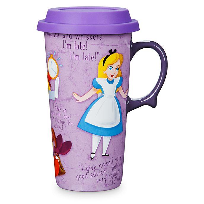 Tazza da viaggio Alice nel Paese delle Meraviglie Disney Store