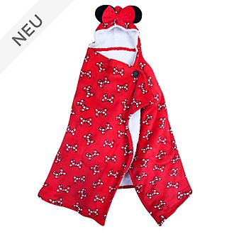 Disney Store - Minnie Maus - Tagesdecke aus Fleece mit Kapuze