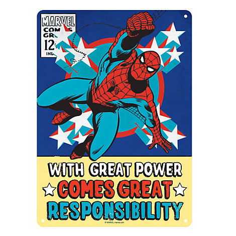 Spider-Man Small Tin Sign, Marvel