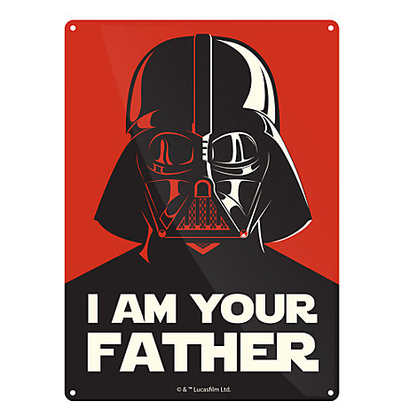 Darth Vader Small Tin Sign, Star Wars