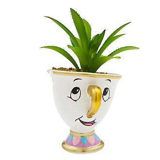 Disney Store Chip Artificial Plant Pot, Beauty and the Beast