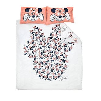 Disney Store Minnie Mouse Reversible Double Duvet Cover Set