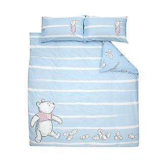 Disney Store Housse de couette Winnie l'Ourson réversible pour lit deux places
