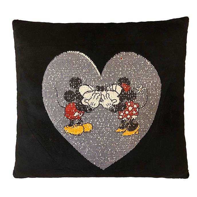 Coussin en forme de coeur Mickey et Minnie Mouse
