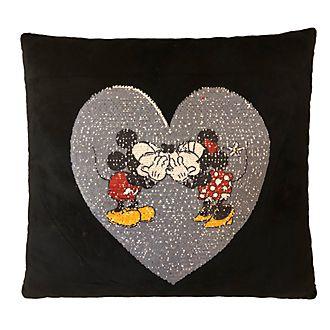 Cojín con forma de corazón Minnie y Mickey Mouse
