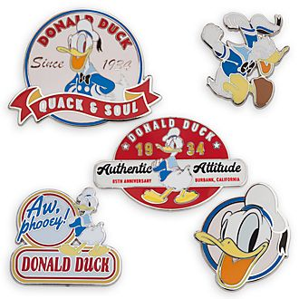 Disney Store Donald Duck Limited Edition Pin Set