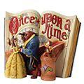 Statuetta libro di fiabe La bella e la bestia collezione Disney Traditions Enesco