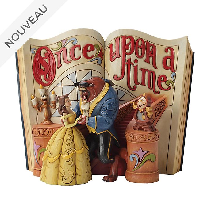 Enesco Figurine Storybook La Belle et la Bête, Disney Traditions