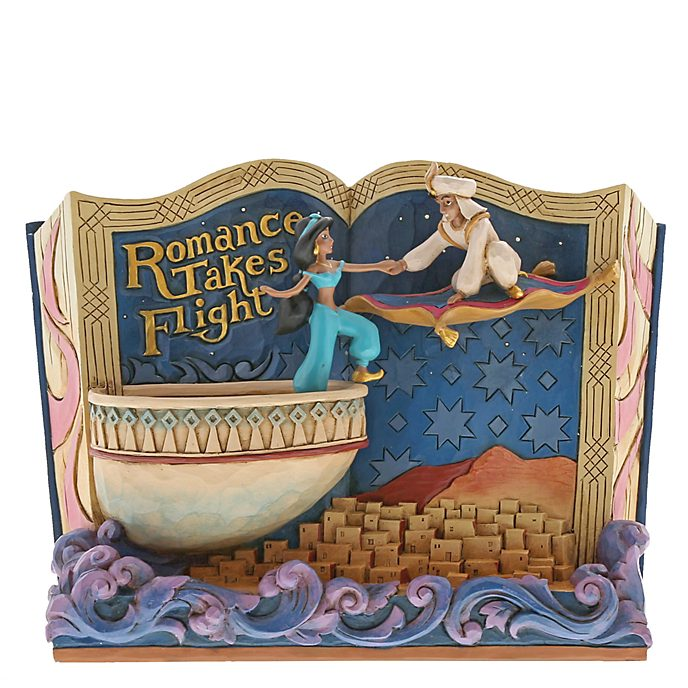 Statuetta libro di fiabe Aladdin collezione Disney Traditions Enesco