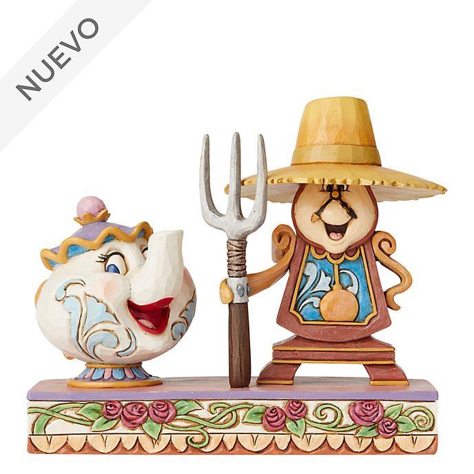 Enesco, figurita Sra. Potts y Din-Don, Disney Traditions
