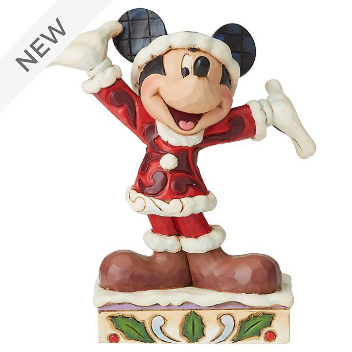 Enesco Mickey Mouse Tis a Splendid Season Disney Traditions Figurine