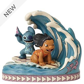 Enesco Lilo and Stitch Catch the Wave Disney Traditions Figurine