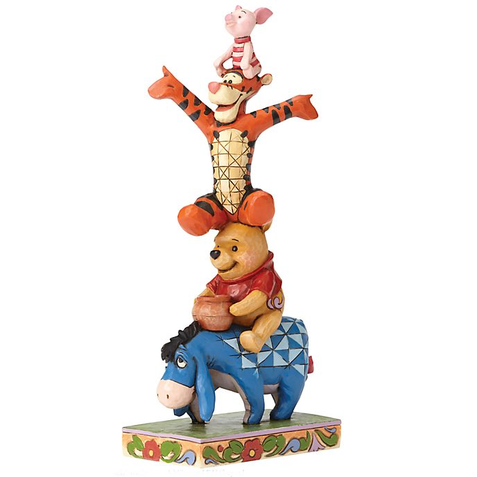 "Enesco Figurine Winnie l'Ourson ""La pyramide de l'amitié"", Disney Traditions"