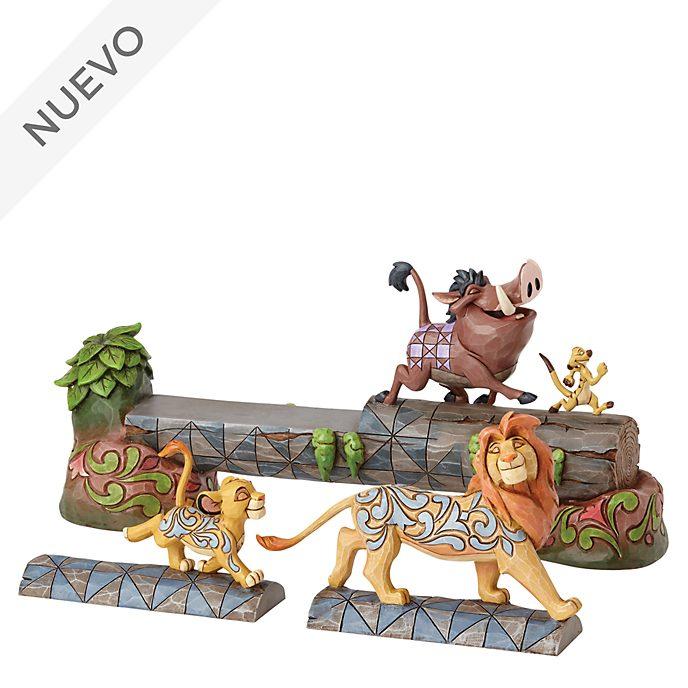 Figurita El Rey León, Carefree Camaraderie, Disney Traditions, Enesco
