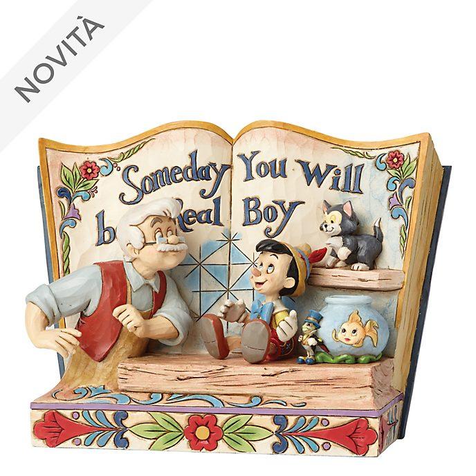 Statuetta libro di fiabe Disney Traditions Pinocchio Enesco