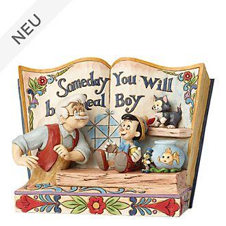 Enesco - Disney Traditions Dekorationsstück - Pinocchio - Märchenbuch