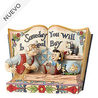 Figurita libro Pinocho, Disney Traditions, Enesco