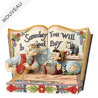 Enesco Figurine Storybook Pinocchio, Disney Traditions